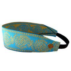 Lovepray blue and gold headband