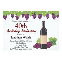 Birthday Wine Invitation | Surprise Birthday Party