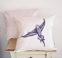 Budgie Parakeet, Budgies, Cushion Pillow, Bed Pillows, Shades Of White, Blue And White, Pillow Drawing, Handmade Cushions, Blue Bodies