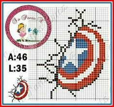 See related image detail Marvel Cross Stitch, Cross Stitch Baby, Cross Stitch Charts, Modern Cross Stitch Patterns, Cross Stitch Designs, Needlepoint Patterns, Embroidery Patterns, Cross Stitching, Cross Stitch Embroidery