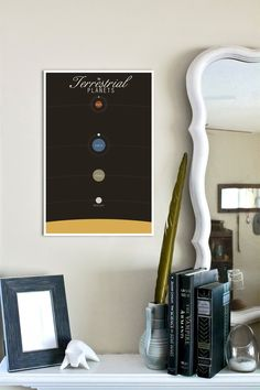 The Terrestrial Planets Infographic: 11x17 Illustrated Science Modern Art Print $18.00