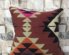 Etsy - Shop for handmade, vintage, custom, and unique gifts for everyone Handmade Pillows, Boho Pillows, Kilim Pillows, Kilim Rugs, Throw Pillows, Boho Decor, Hand Weaving, Pillow Covers, Unique Gifts