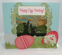 Beautiful diorama Easter card!