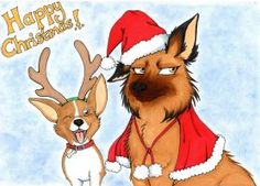 Christmas Pups by Social Community, Scooby Doo, Art Work, To My Daughter, Pup, Gothic, My Arts, Sketches, Kitty