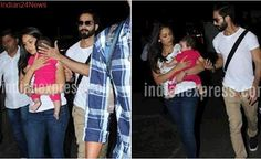 Shahid Kapoor, Mira Rajput take daughter Misha out and they make for one good looking family. See pics