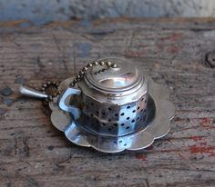 Tea Strainer Vintage Tea Ball Teapot Stainless by cabinwindows, $12.00