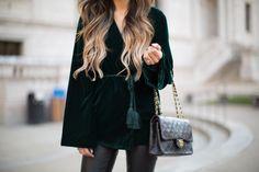 Velvet & Leather Holiday Look. - Mia Mia Mine