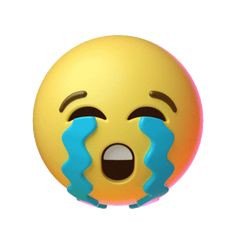 Sad Cry Sticker by Emoji for iOS & Android Animated Smiley Faces, Funny Emoji Faces, Animated Emoticons, Funny Emoticons, Animated Icons, Emoticon Faces, Crying Gif, Crying Emoji, Cute Cartoon Pictures