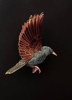 Los pájaros perfectos en papel de Diana Beltrán