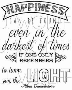 Harry Potter Quote Printable