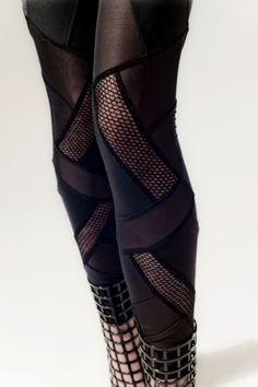 Fusion Leggings by Mila Hermanovski -- I admit to having covetous feelings about these.  They are so weirdly wonderful.