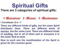 Image result for categories of spiritual gifts