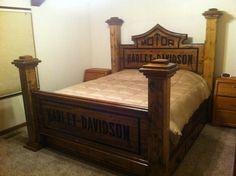 Harley Davidson Headboard | Go look at my Harley Davidson board | Harley Davidson beds