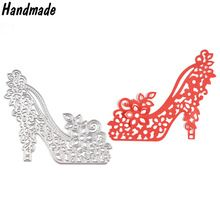 Diseño de Plantillas de Troqueles De Corte de Metal High Heels para DIY Papel Scrapbooking Álbum Repujado DIY Tarjetas de Límite de Troqueles De Corte(China (Mainland))