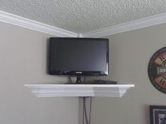 office TV shelf... Tv Shelving, Tv Shelf, Shelves, Peaceful Bedroom, Office Tv, Next At Home, My Room, Gameroom Ideas, Sweet Home