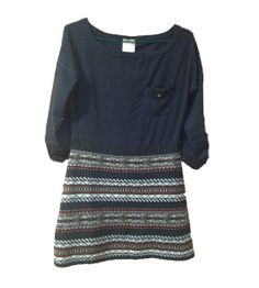 Vestido azul falda incrustada Pull and Bear 30.00€
