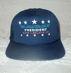 97562ab8e Vtg Child Told Anyone Can Be President Mesh Snapback Trucker Hat Donald  Trump #Unbranded #