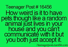 Never thought about it like that..haha