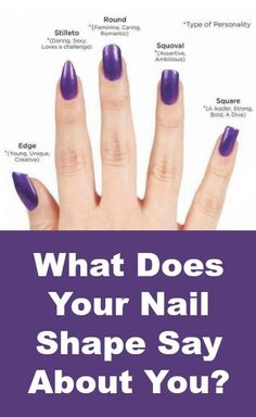 What Does Your Nail Shape Say About You Purple Stiletto Nailsrounded