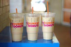 Image via We Heart It https://weheartit.com/entry/138648670/via/26025029 #autumn #chocolate #classy #coffee #cold #donut #drink #dunkindonuts #food #milk #vanilla #foodporn