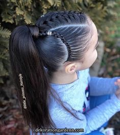 braided hairstyles hairstyles long hairstyles directions hairstyles pigtails hairstyles long bun hairstyles african american hairstyles round face hairstyles how to do Girls Hairdos, Lil Girl Hairstyles, Kids Braided Hairstyles, Princess Hairstyles, Curly Girls, Toddler Hair, Hair Trends, Curly Hair Styles, Colorful Hair