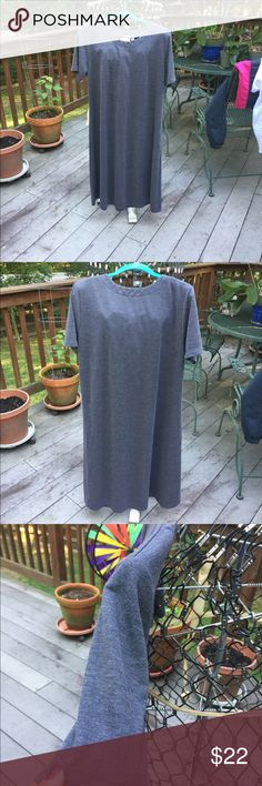 """Dress by Susan Graver Dress by Susan Graver. Simple in design. Gray slightly heathered. Basic dress will be a work horse addition to your wardrobe. Business, worship or casual. Great canvas for jewelry! Wear with boots, blazers. Sweaters, jackets, etc. Pull over head Style. No zippers or buttons. Approx 43"""" from back neck. Fabric and care pictured above Susan Graver Dresses"""