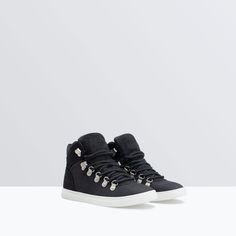 Image 2 of BUCKLED HIGH TOP SNEAKERS from Zara