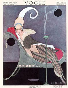 Vogue, 1914. Old Vogue cover / Capa retrô da Vogue.