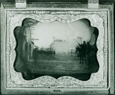 TEXAS  during the civil war, Surrender of General Twiggs, main plaza San Antone, Feb 16, 1861 a very rare photo