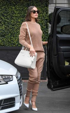 Olivia Culpo from The Big Picture: Today's Hot Photos  Simply stunning! The actress is spotted in Los Angeles toting her Saint Laurent handbagpaired with matching Gianvito Rossi pumps.