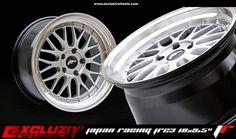 "Jante Japan Racing JR23 18x9.5"". Finition : Hyper silver."
