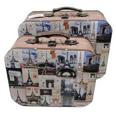 Conjunto de Maletas Paris Oldway - 2 Peças - 36x28  Comprar https://www.carrodemola.com.br/produtos/2476/conjunto-maletas-paris-oldway-2-pecas-36x28-cm