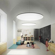 Regional Museum of Natural Sciences of Torino - Picture gallery Kindergarten Interior, Kindergarten Design, Education Architecture, Interior Architecture, Interior Design, School Hall, Early Childhood Centre, Kid Spaces, Kids House