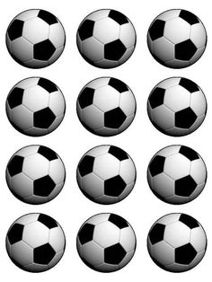 15 Soccer Ball Edible Precut Icing Cupcake Cup Cake Decoration Toppers Images for sale online Cupcake In A Cup, Cupcake Icing, Cupcake Toppers, Cupcake Cakes, Cup Cakes, Baseball Party, Soccer Party, Soccer Ball, Soccer Banquet