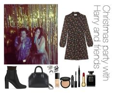 """""""Christmas party with Harry and friends"""" by thetrendpear-eleanor ❤ liked on Polyvore featuring Yves Saint Laurent, Falke, STELLA McCARTNEY, Bottega Veneta, Alexander McQueen, Tuleste, Gucci, Bobbi Brown Cosmetics and Givenchy"""