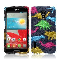 Get the #LG #Optimus #F7 #US780 #Hard #Case #Cover - Colorful Dinosaur On Black Full Rhinestones will make your phone more cute. Furthermore, it is verry nice to attract the people with pretty Dinosaur! Come to us @Acetag to get the best protection for your phone! $9.99