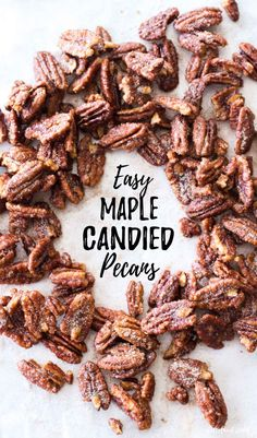Candied Pecans Recipe, Glazed Pecans, Spiced Pecans, Roasted Pecans, Candied Nuts, Pecan Recipes, Easy Baking Recipes, Candy Recipes, Cooking Recipes