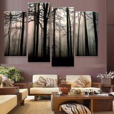 Dark Valley Canvas 4 Piece Wall Art