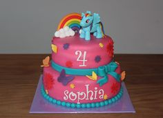 Stapeltaarten 2 - Koning Kikker.            My little Pony cake