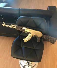 Used Louis Vuitton replica for sale in Chicago - letgo Pink Guns, Happy Lights, Used Louis Vuitton, Ak 47, Custom Sofa, Bad Girl Aesthetic, Blue Pillows, Weapons, Gangsta Quotes