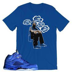 jordan 5 blue suede shirt, Jordan tees