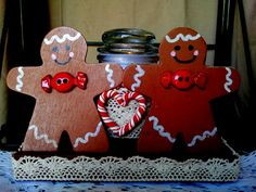 Next stop: A Touch of Ozarks Wood Crafts Page Wooden Ginger Bread Man Candle Table Decoration