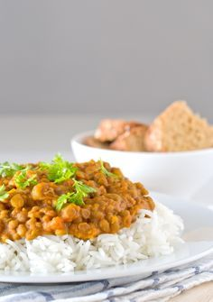 Vegan lentil curry...except I would add chicken or lamb, and a bunch of other stuff. Basically just like the idea of adding lentils haha