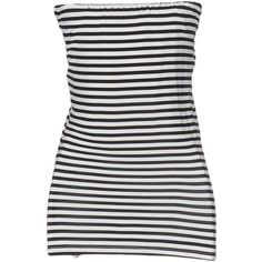 Annarita N. Tube Top (€60) ❤ liked on Polyvore featuring tops, black, stretch tube top, jersey top, striped tube top, stretch top and striped top