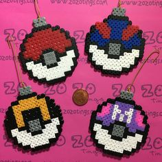 The product Pokemon Poké Ball Christmas Pixel Baubles is sold by Zo Zo Tings in our Tictail store. Tictail lets you create a beautiful online store for free - tictail.com