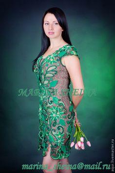Ирландское кружевное вечернее платье со схемами