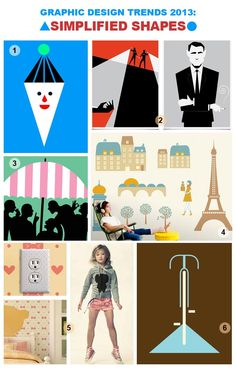 """""""Simplified Shapes"""" graphic design trend as defined by leading fashion trend and analysis company Stylesight."""