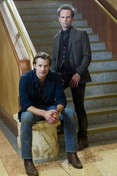 Justified.  Timothy Olyphant and Walton Goggins