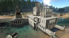 Ark Ps4, Game Ark Survival Evolved, Base Building, Building Ideas, 7 Days To Die, Conan Exiles, Video Games, Castle, Around The Worlds