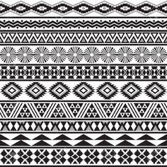 Tribal transparente rayée motif géométrique noir-blanc fond Nuancier de seamless inclus dans le fichier